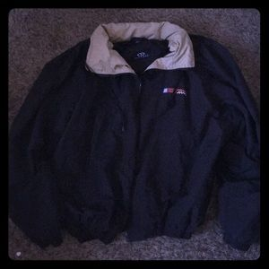 Vintage XL race track windbreaker